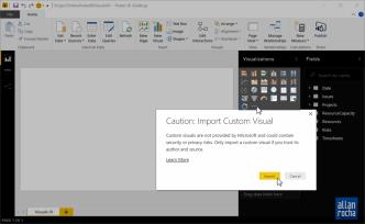 Usando Custom Visuals no Power BI para mostar dados do